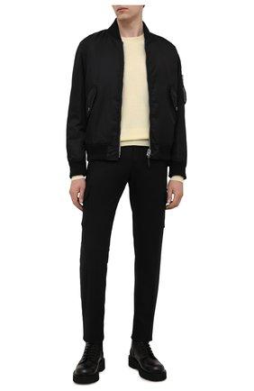 Мужские шерстяные брюки-карго MARCO PESCAROLO черного цвета, арт. P0MPEI/ZIP/4416 | Фото 2