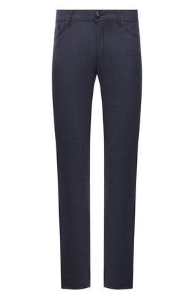 Мужские кашемировые брюки MARCO PESCAROLO темно-синего цвета, арт. NERAN0M18/ZIP/4442 | Фото 1