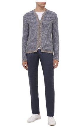 Мужские кашемировые брюки MARCO PESCAROLO темно-синего цвета, арт. NERAN0M18/ZIP/4442 | Фото 2
