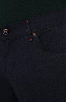 Мужские кашемировые брюки MARCO PESCAROLO темно-синего цвета, арт. NERAN0M18/ZIP/4442 | Фото 5 (Материал внешний: Шерсть, Кашемир; Длина (брюки, джинсы): Стандартные; Случай: Повседневный; Стили: Кэжуэл)