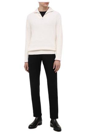 Мужские кашемировые брюки MARCO PESCAROLO черного цвета, арт. NERAN0M18/ZIP/4442 | Фото 2
