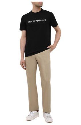 Мужская хлопковая футболка EMPORIO ARMANI черного цвета, арт. 8N1TN5/1JPZZ | Фото 2 (Материал внешний: Хлопок; Длина (для топов): Стандартные; Рукава: Короткие; Стили: Кэжуэл)
