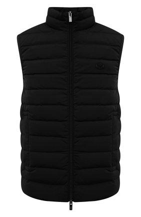 Мужской пуховый жилет EMPORIO ARMANI черного цвета, арт. 8N1BQ1/1NLRZ | Фото 1 (Материал подклада: Синтетический материал; Длина (верхняя одежда): Короткие; Материал внешний: Синтетический материал; Кросс-КТ: Куртка, Пуховик; Стили: Кэжуэл)