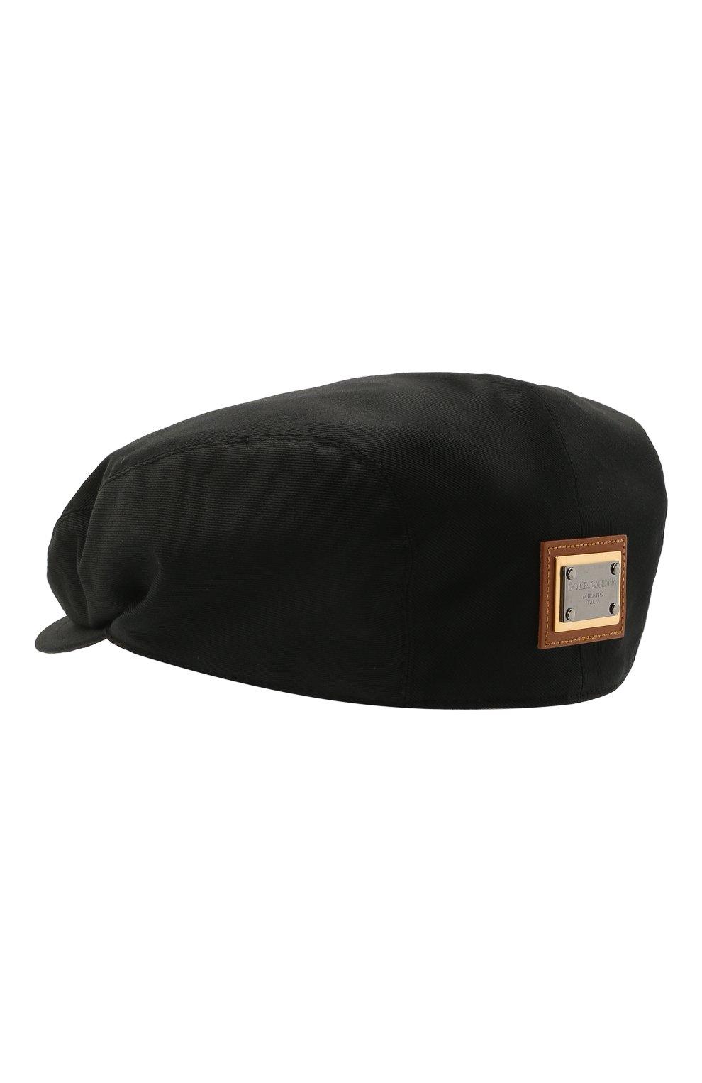 Мужская хлопковое кепи DOLCE & GABBANA черного цвета, арт. GH587A/FU6XP | Фото 2