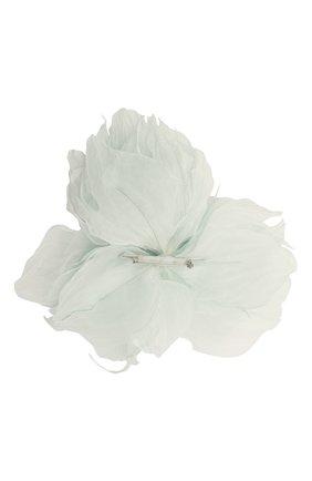 Женская брошь pion FLOWER ME голубого цвета, арт. PION-NS005010M | Фото 2 (Материал: Текстиль)