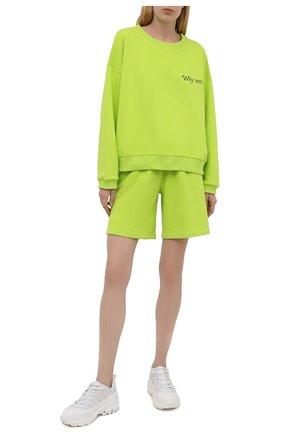 Женский хлопковый костюм SEVEN LAB зеленого цвета, арт. SWS21-WN lime   Фото 1