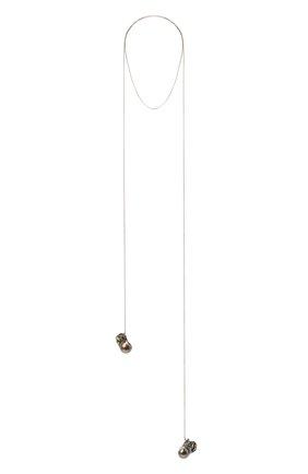 Женское колье DZHANELLI серебряного цвета, арт. 071 | Фото 1