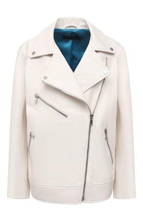 Женская кожаная куртка MASLOV кремвого цвета, арт. SMW101 | Фото 1