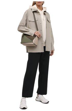 Женский хлопковое худи BOSS кремвого цвета, арт. 50460823 | Фото 2