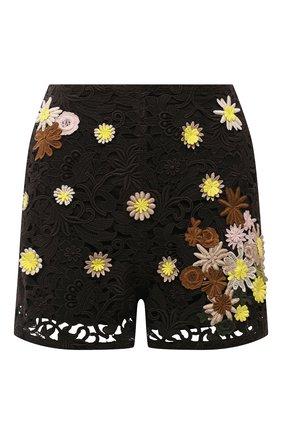 Женские хлопковые шорты VALENTINO темно-коричневого цвета, арт. VB0RF1P03QG | Фото 1