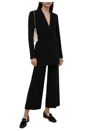 Женские кожаные лоферы eleonara LORO PIANA черного цвета, арт. FAL7829 | Фото 2