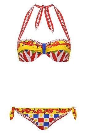 Женский раздельный купальник DOLCE & GABBANA разноцветного цвета, арт. 08A58J/FPG6A | Фото 1