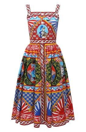 Женское хлопковое платье DOLCE & GABBANA разноцветного цвета, арт. F6UY3T/GDS11 | Фото 1