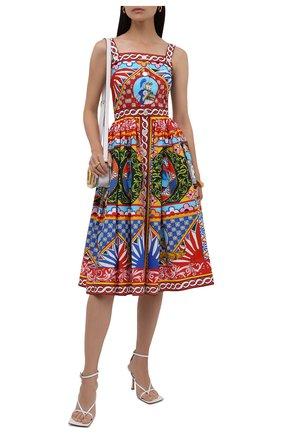 Женское хлопковое платье DOLCE & GABBANA разноцветного цвета, арт. F6UY3T/GDS11 | Фото 2
