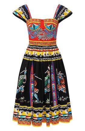 Женское хлопковое платье DOLCE & GABBANA разноцветного цвета, арт. F6WQ8T/GDS11 | Фото 1