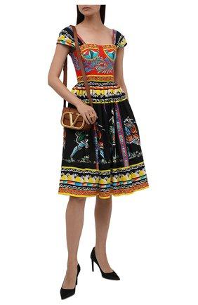 Женское хлопковое платье DOLCE & GABBANA разноцветного цвета, арт. F6WQ8T/GDS11 | Фото 2