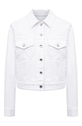 Женская джинсовая куртка DOLCE & GABBANA белого цвета, арт. F9H08D/G899M | Фото 1