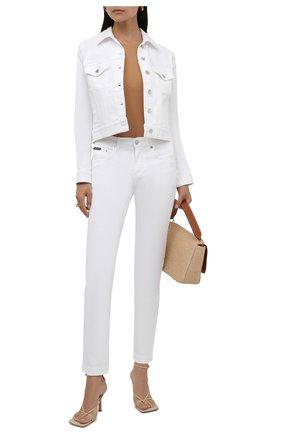 Женская джинсовая куртка DOLCE & GABBANA белого цвета, арт. F9H08D/G899M | Фото 2
