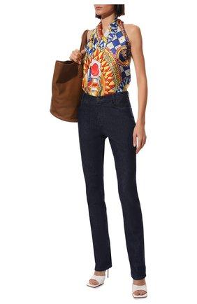Женский шелковый платок DOLCE & GABBANA желтого цвета, арт. FN086R/FI1T4 | Фото 2