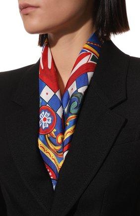 Женский шелковый платок DOLCE & GABBANA синего цвета, арт. FN087R/FI1T1 | Фото 2