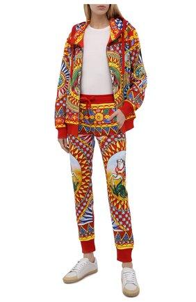 Женские хлопковые джоггеры DOLCE & GABBANA разноцветного цвета, арт. FTBW3T/FI76I | Фото 2