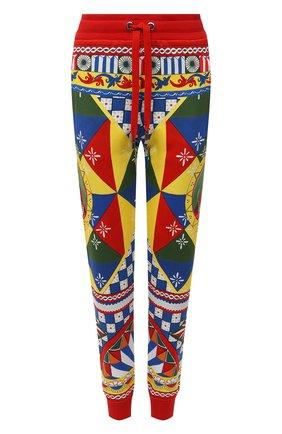Женские хлопковые джоггеры DOLCE & GABBANA разноцветного цвета, арт. FTBW3T/FI777 | Фото 1 (Длина (брюки, джинсы): Стандартные; Материал внешний: Хлопок; Женское Кросс-КТ: Джоггеры - брюки; Стили: Гламурный; Силуэт Ж (брюки и джинсы): Джоггеры; Кросс-КТ: Трикотаж)