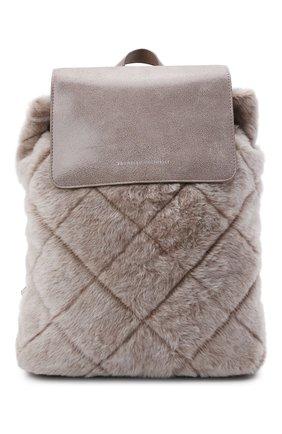 Женский рюкзак BRUNELLO CUCINELLI серого цвета, арт. MBUMD2217 | Фото 1