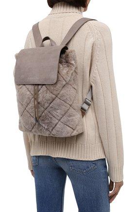 Женский рюкзак BRUNELLO CUCINELLI серого цвета, арт. MBUMD2217 | Фото 2