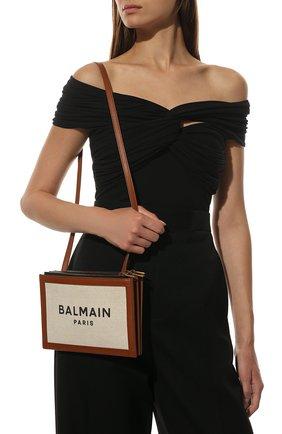 Женская сумка b-army BALMAIN коричневого цвета, арт. WN1LB664/TCFN | Фото 2