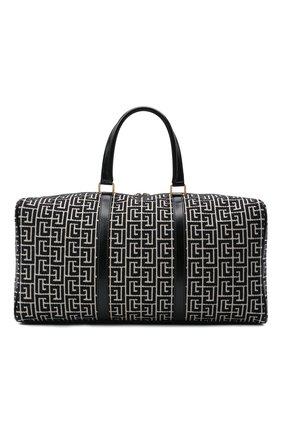 Женская дорожная сумка 1945 BALMAIN черно-белого цвета, арт. WN1EC650/TJGH | Фото 1