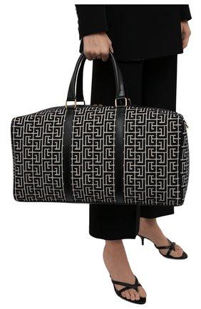 Женская дорожная сумка 1945 BALMAIN черно-белого цвета, арт. WN1EC650/TJGH | Фото 2