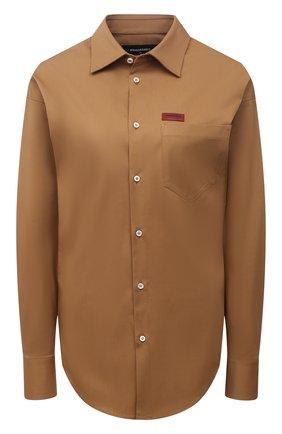 Женская хлопковая рубашка DSQUARED2 бежевого цвета, арт. S75DL0784/S35175 | Фото 1