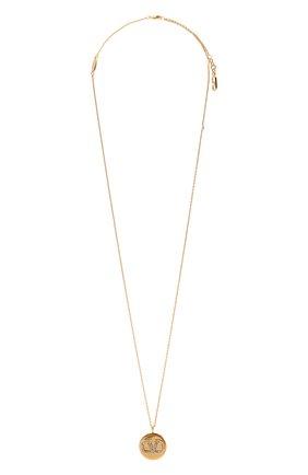Женская кулон на цепочке vlogo VALENTINO золотого цвета, арт. WW2J0I63/YCW | Фото 1 (Материал: Металл)