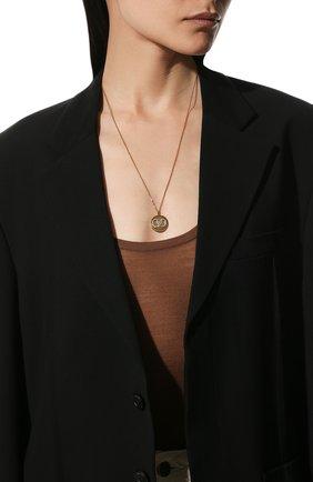 Женская кулон на цепочке vlogo VALENTINO золотого цвета, арт. WW2J0I63/YCW | Фото 2 (Материал: Металл)