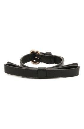Женский кожаный браслет REDVALENTINO черного цвета, арт. WQ2J0B49/MEN   Фото 1