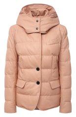 Женская кожаная куртка TOM FORD светло-розового цвета, арт. GIL418-LEX217 | Фото 1 (Длина (верхняя одежда): Короткие; Материал подклада: Синтетический материал, Вискоза; Кросс-КТ: Куртка; Стили: Кэжуэл; Рукава: Длинные; Женское Кросс-КТ: Замша и кожа; Материал утеплителя: Пух и перо)