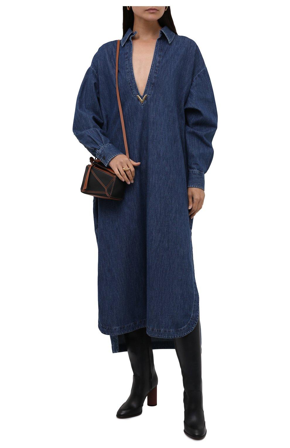 Женские кожаные сапоги LORO PIANA черного цвета, арт. FAL7745 | Фото 2