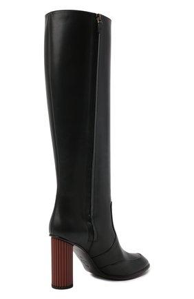 Женские кожаные сапоги LORO PIANA черного цвета, арт. FAL7745 | Фото 4
