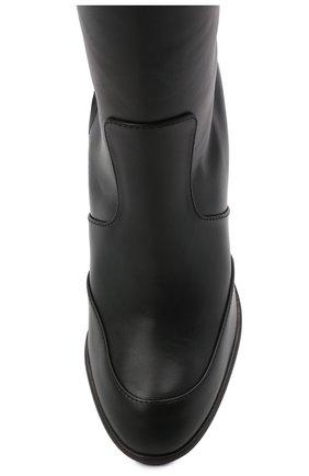 Женские кожаные сапоги LORO PIANA черного цвета, арт. FAL7745 | Фото 5