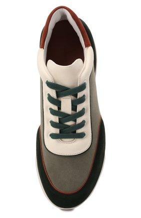 Женские кожаные кроссовки LORO PIANA зеленого цвета, арт. FAL7984 | Фото 5