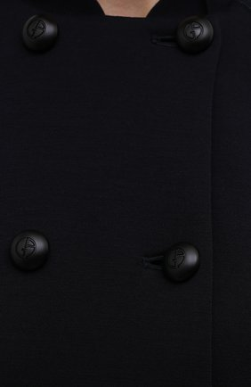 Женский кардиган из шерсти и вискозы GIORGIO ARMANI темно-синего цвета, арт. 6KAB50/AJDFZ | Фото 5