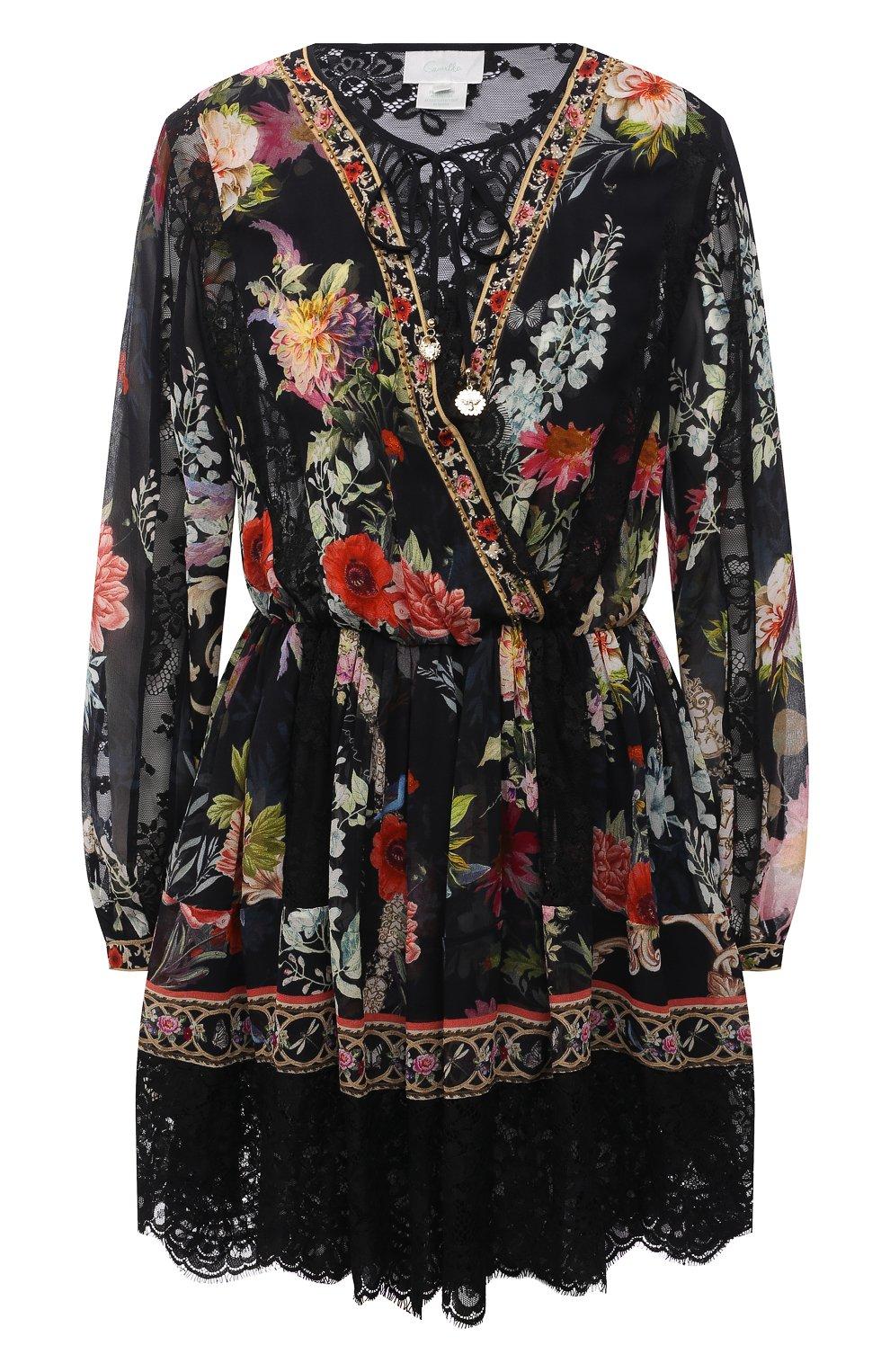 Женское шелковое платье CAMILLA разноцветного цвета, арт. 9980 | Фото 1