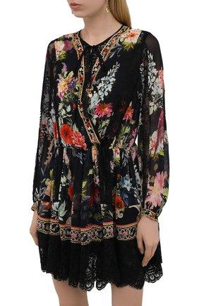 Женское шелковое платье CAMILLA разноцветного цвета, арт. 9980 | Фото 3