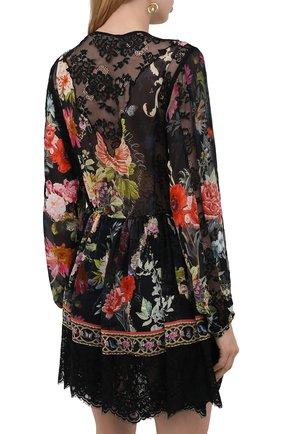 Женское шелковое платье CAMILLA разноцветного цвета, арт. 9980 | Фото 4