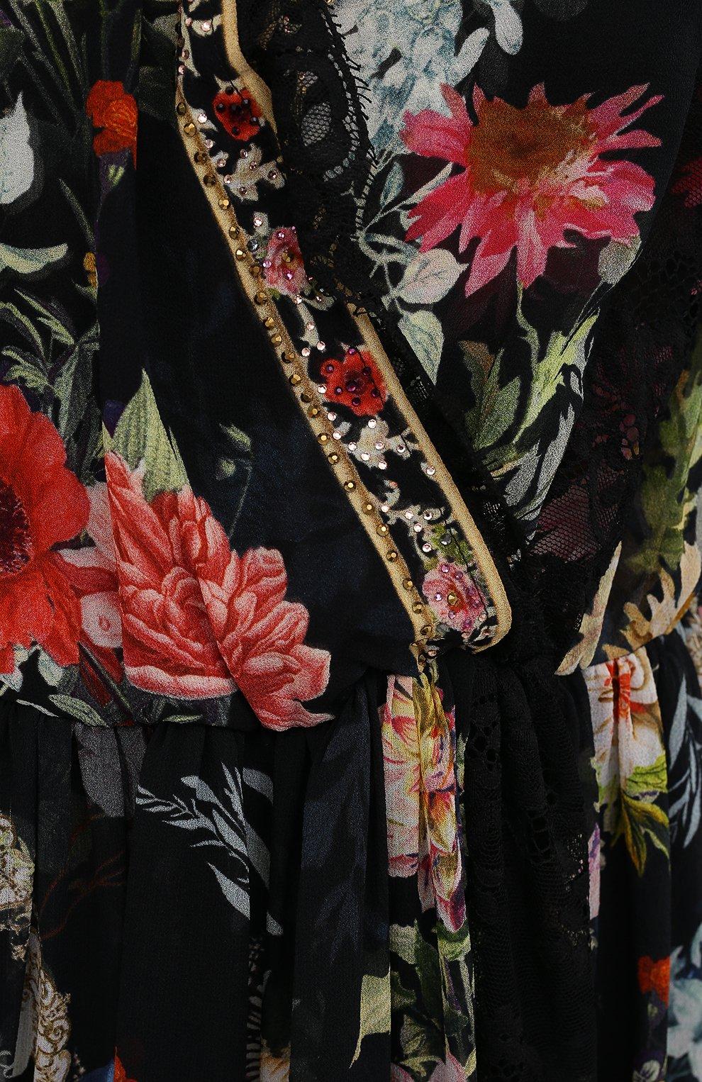 Женское шелковое платье CAMILLA разноцветного цвета, арт. 9980 | Фото 5