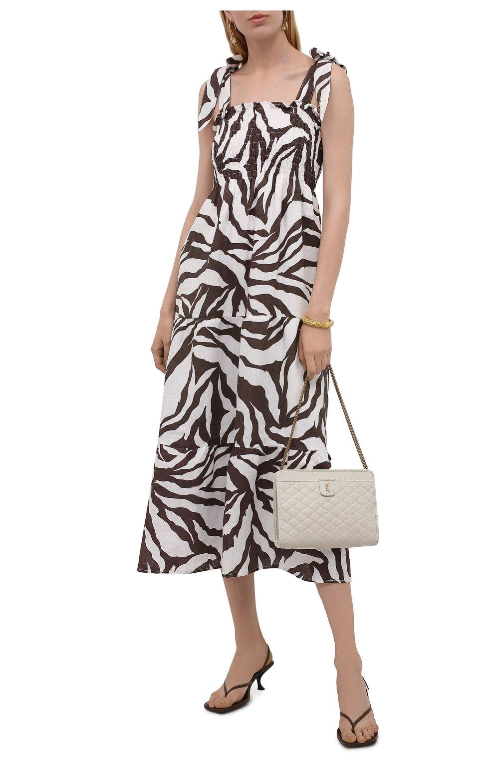 Женское льняное платье FAITHFULL THE BRAND коричневого цвета, арт. FF1584-JVP | Фото 2
