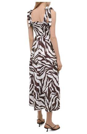 Женское льняное платье FAITHFULL THE BRAND коричневого цвета, арт. FF1584-JVP | Фото 4