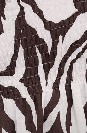 Женское льняное платье FAITHFULL THE BRAND коричневого цвета, арт. FF1584-JVP | Фото 5