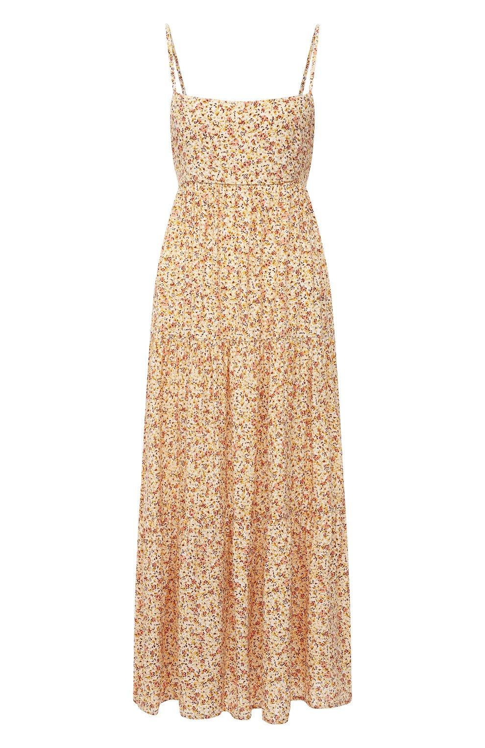 Женское платье из вискозы FAITHFULL THE BRAND желтого цвета, арт. FF1659-LRF   Фото 1
