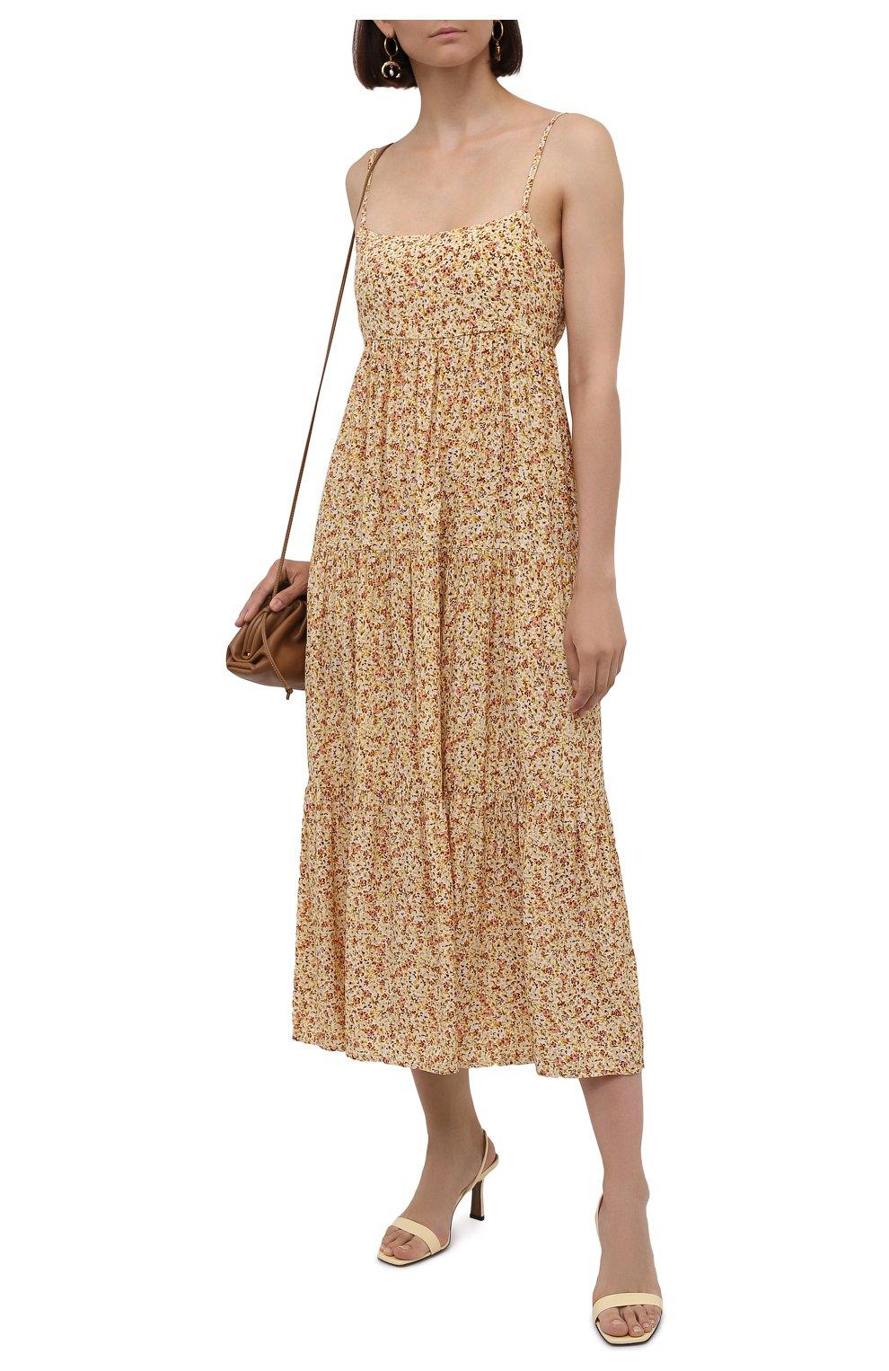 Женское платье из вискозы FAITHFULL THE BRAND желтого цвета, арт. FF1659-LRF   Фото 2